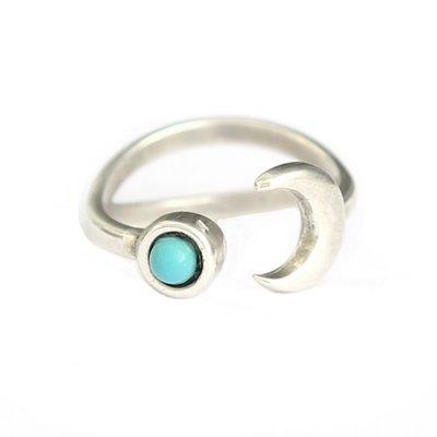 Ring - Moon & Stone