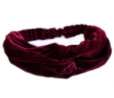 Velvet haarband - Wine