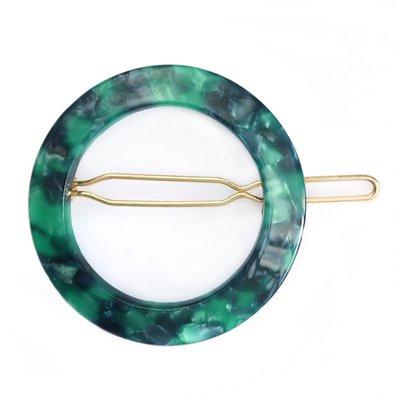 Haarclip round Emerald