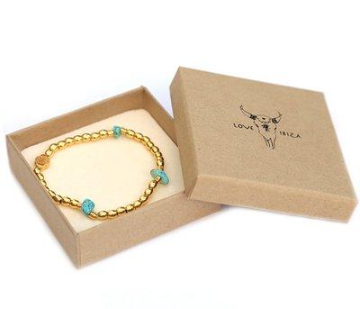 Armband Gold aqua