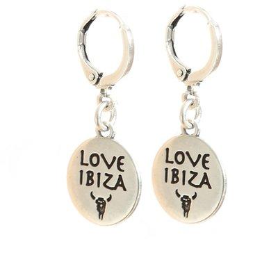 Oorbel - Love Ibiza silver