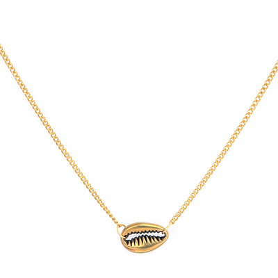Ketting small shell gold