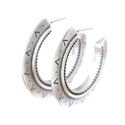 Oorbel Aztec silver