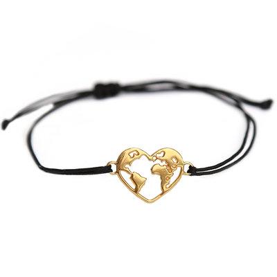 Armband heart earth gold