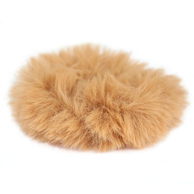 Scrunchie faux fur caramel