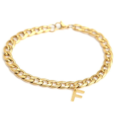 Armband chain initial gold