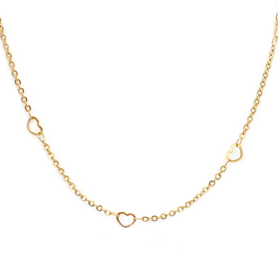Ketting little heart gold