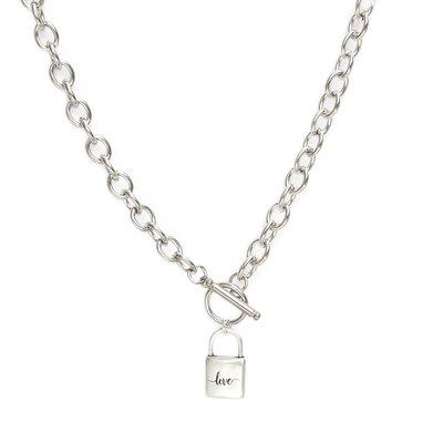 Ketting chain lock silver
