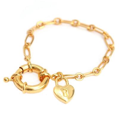 Armband love lock gold