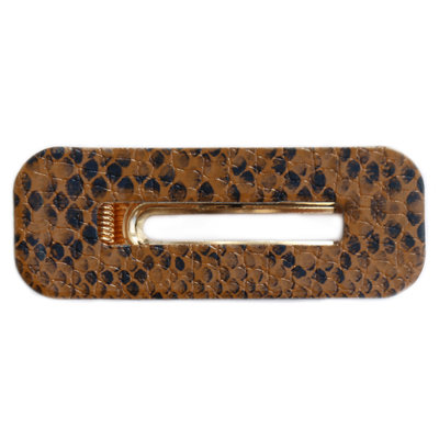 Statement haarclip Snake brown