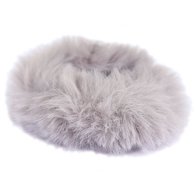 Scrunchie faux fur grey