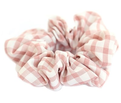 Scrunchie ruit roze