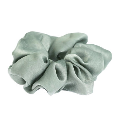 Zijde scrunchie Light olive