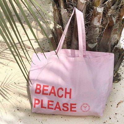 Canvas strandtas Beach Please