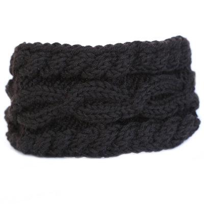 Haarband winter black