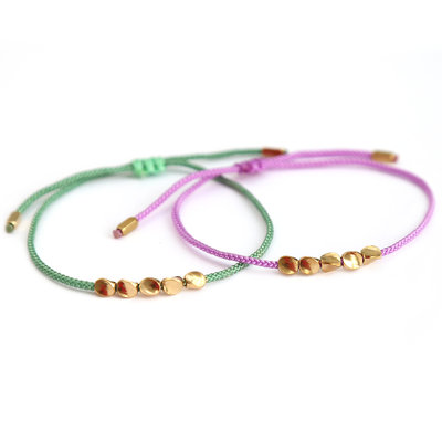 Armbanden set green lavender