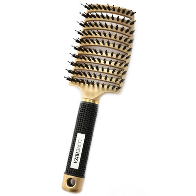 Anti-klit haarborstel gold