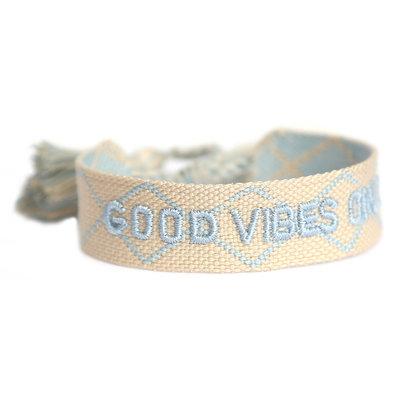 Good vibes only armbandje creme