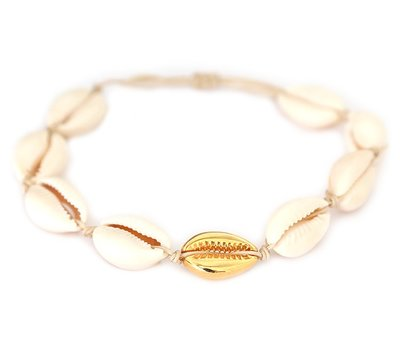 Enkelbandje Gold shell