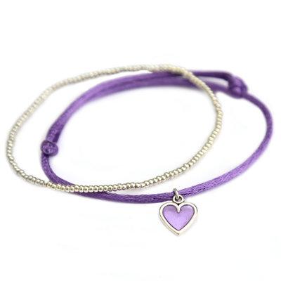 Armbandjes lilac love silver