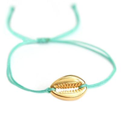Armband turquoise gold shell