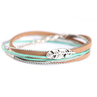 Feather wrap silver mint
