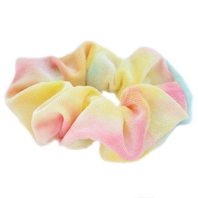 Scrunchie velvet tie dye yellow