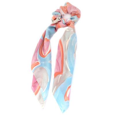 Scrunchie scarf swirl peach