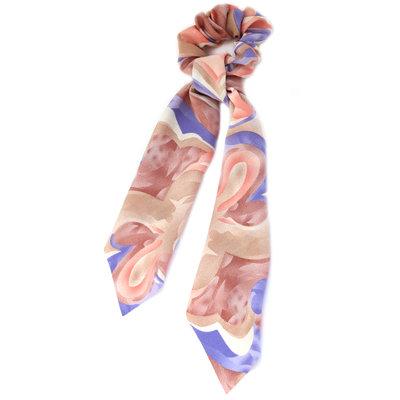 Scrunchie scarf swirl lilac