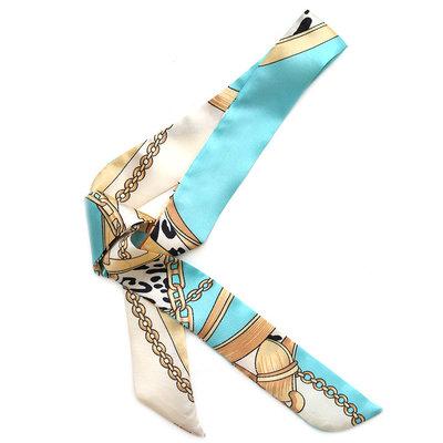 Zijden sjaaltje baroque blue