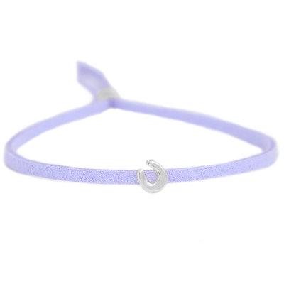 Armband for good luck - lila silver