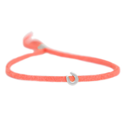 Armband for good luck - coral silver