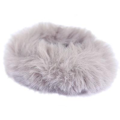 Scrunchie faux fur grey