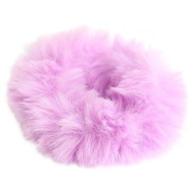 Scrunchie faux fur lila
