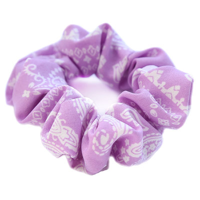 Scrunchie paisley lila