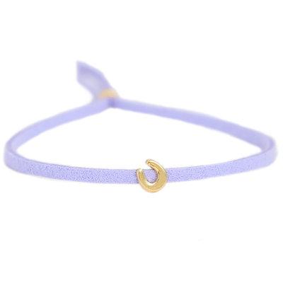 Armband for good luck - lila gold