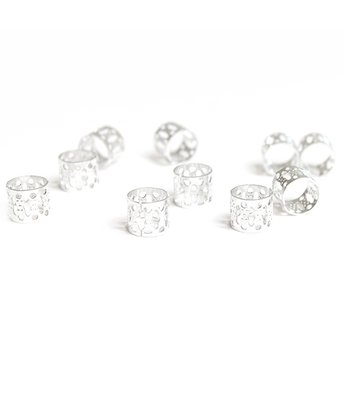 Hair jewel beads silver