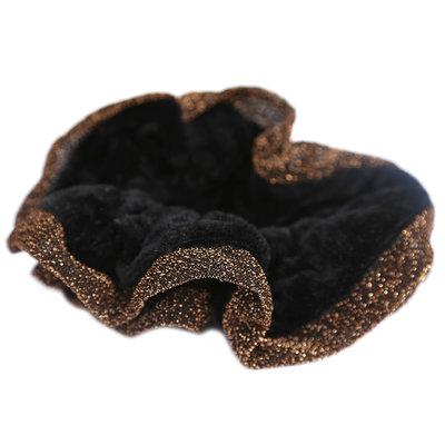 Velvet scrunchie glitter edges