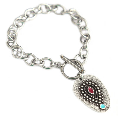 Armband silver amulet turquoise eye