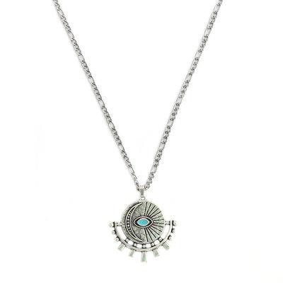 Ketting silver amulet turquoise eye