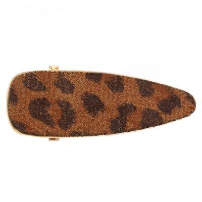 Statement haarclip velvet leopard brown