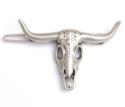 Buffel haarclip zilver