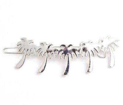 Palm haarclip zilver