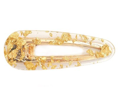 Statement haarclip gold flakes