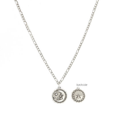 Ketting sun and moon silver