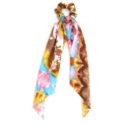 Scrunchie scarf dark tie dye