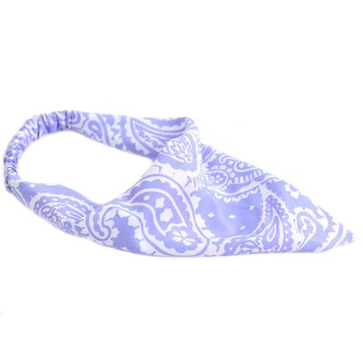 Bandana haarband paisley lila