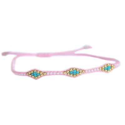 Armband miyuki Ibiza pink