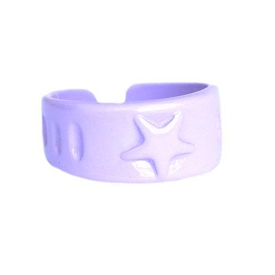 Ring lilac star