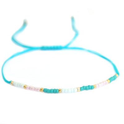 Miyuki armband pastel blue